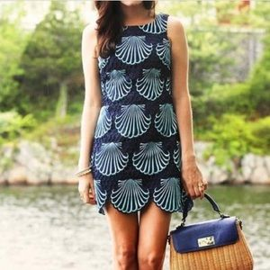 Lilly Pulitzer Navy seashell Delia mini dress